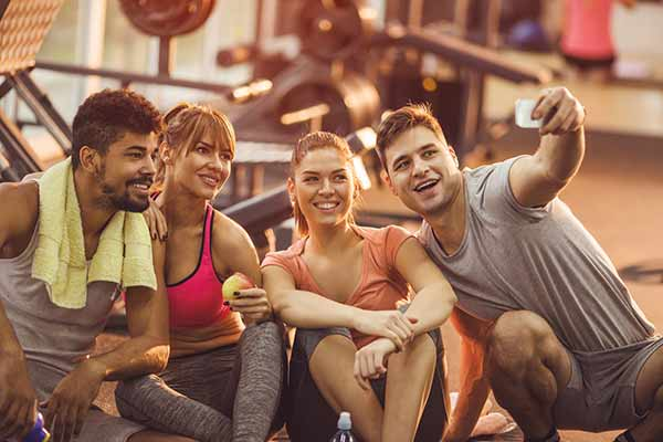 group selfie post workout